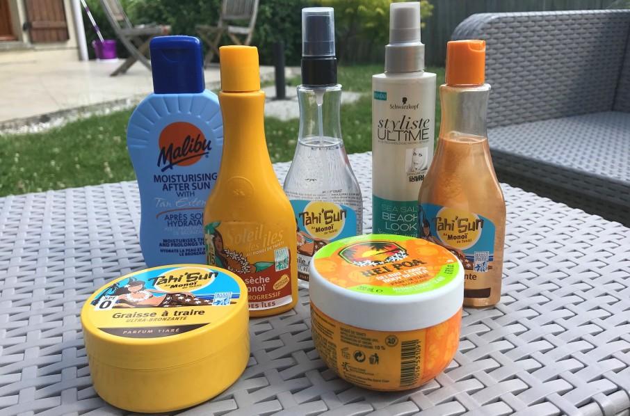 Produits pour se préparer pour l'été